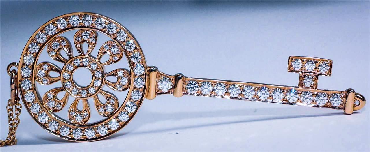 Tiffany Diamond Key Pendant